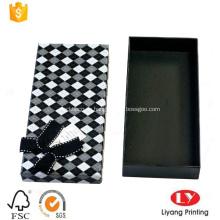 caja de regalo de empaquetado de corbata de papel personalizado