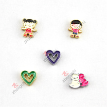 Alloy 8mm Love Heart Slide Charms for Leather Straps (SCS51031)