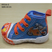 Latest Lovely Injection Shoes Baby Canvas Shoes Infant Shoes (FF516-2)