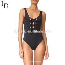 Vente chaude dentelle de plage d'été jusqu'à des femmes backless costume de natation