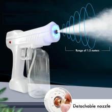 1300W 800ml 110V/220V Household Portable Wireless Sprayer Machine Blue Light Nano Steam Spray Gun Disinfection