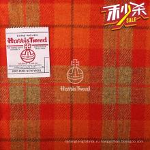 сертифицированный подлинный Харрис твид шерстяная ткань красная ткань тартан от агента Харрис Твид в Китае