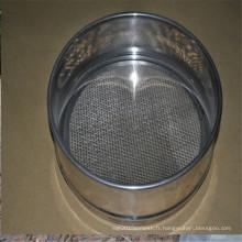 bon treillis métallique d'acier inoxydable adapté aux besoins du client, tamis de tamis de fil de filtre