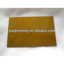 Kundenspezifische bedruckte Platte aus heißem Folie Stanz-Polymer mit Stahl pase zum Verkauf