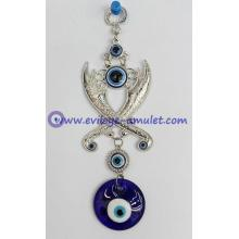Turkish Evil Eye Hamsa Pendant Zulfiqar crossed swords machete wall home decoration