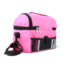 Portable Polyester Pink Unisex Cooler Lunch Storage Bags For Kids Mummy
