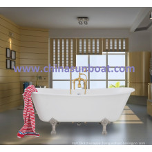 Cast Iron Bathtub Independent Enamel Bathtub European Classical Double Deepening Enamel Bathtub