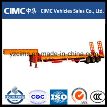 Tri-Axle Low Bed Semi Trailer 60 Tons