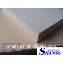 Panneau de mousse de pvc de celuka d'épaisseur de 12mm, panneau de celuka de pvc solide et brillant