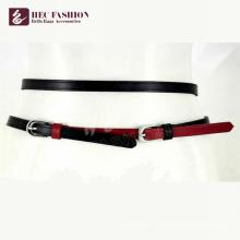 cuir femme couleur contrastée, ceintures en cuir pur, SP27912