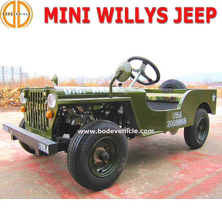 Bode Quality Assured Gas Mini Jeep Willys for Sale Bc