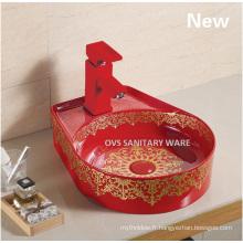 Le plus nouveau lavabo en céramique peint
