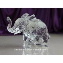 Crystal Animal Model Crystal Elephant Craft para regalo