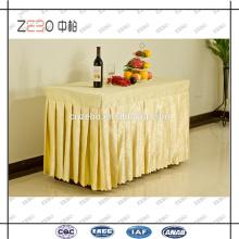 Tissu jacquard à vente chaude Jupe à la table en polyester plissé à la mode