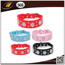 Weiche Leder Haustier Hundehalsband (HJ7001)