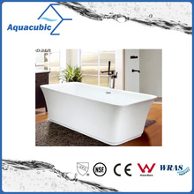 Bathroom Square Acrylic Free-Standing Bathtub (AB1511W-1500)
