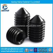 Vis de fixation en acier au carbone noir de 12,9 degrés avec point de cône