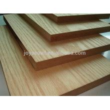 Naturfurnier MDF-Platte, laminierte Platte für Möbel dekorative, mdf Sockelleiste
