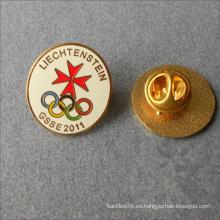 Pin redondo del cuello de la insignia del esmalte duro del metal de la forma de encargo