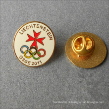 Pin duro do colar do emblema do esmalte do metal redondo feito sob encomenda da forma