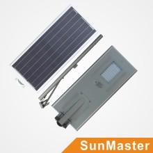 50W todo en uno / luz de calle solar integrada del LED con 5 años de garantía