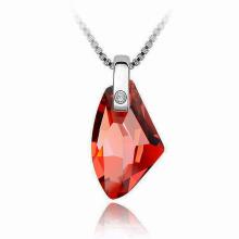 Multi color Baguette piedra colgante collar de cristal, Rhinestone resina collar de cristal de cuarzo