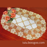 Royal Medallion Lace Vinyl Doilies, Comes in Gold or White