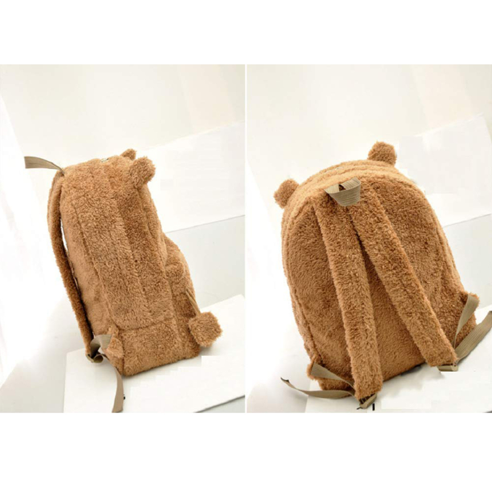 Cute Bear Plush Backpack 1