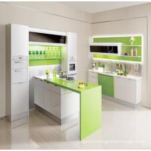 Cabinet de cuisine en bois sur mesure en Chine