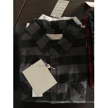 Camisa de algodón a rayas de hombre de moda