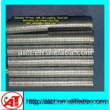 Magnet for box/zinc coated magnet