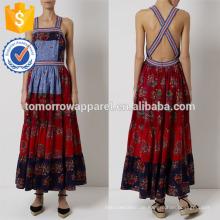 Neue Mode Multi Patchwork Pinafore Maxikleid Herstellung Großhandel Mode Frauen Bekleidung (TA5289D)