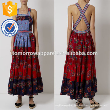 New Fashion Multi Patchwork Pinafore Maxi Dress Manufacture Wholesale Fashion Women Apparel (TA5289D)