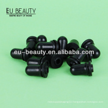 Black silicone teat for essential oil bottles