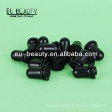 Tetina de silicone preta para garrafas de óleo essencial