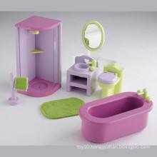 Pretend Play Toy Wooden Mini Bathroom Furniture Toys