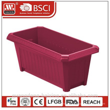 Popular rect.plastic flower pot