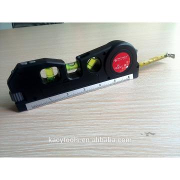 Niveau laser 4 en 1 multifonction avec ruban à mesurer