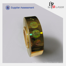 30*30mm Hot Stamping Foil Labels In Roll Packaging