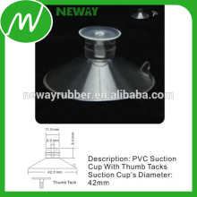 PVC Material Micro 42mm Suction Cup with Thumb Tacks