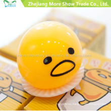 Novelty Sticky Egg Toys Cute Yellow Squeezed Vomiting & Sucking Toys