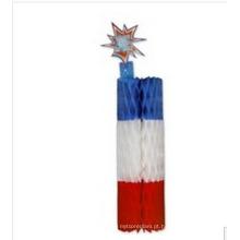 2015 novo design pendurado papel decoração de fogos de artifício