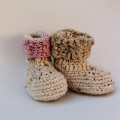Crochet Baby Shoes Crochet Newborn Booties Girls shoes