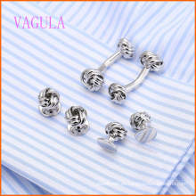 VAGULA Fashion Silver Plated Gemelos Wedding Gemelos Conjunto