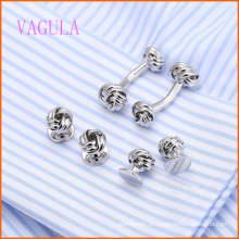 VAGULA Moda Prata Banhado Gemelos Casamento Cufflink Set