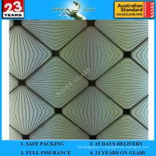 3-6мм АМ-74 декоративное Кисловочное Травленое матовое художественного архитектурного зеркало