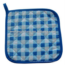t / c 65/35 hilado teñido guinga cocina guante de cocina