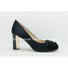 2016 Comfort Metal High Heels Leather Women Shoes