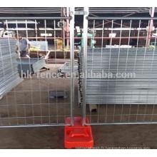 Trou de maille de 60 * 150 millimètres Panneau de barrière temporaire mobile de l'Australie facile