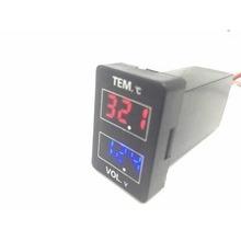 Car LED Digital Red&Blue Display 2 in 1 Dual Voltmeter